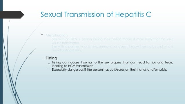 Hep C Sexually Transmitted