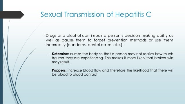 Contracting hepatitis c sexually