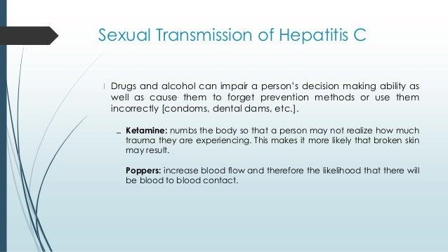 Chances of getting hepatitis c sexually
