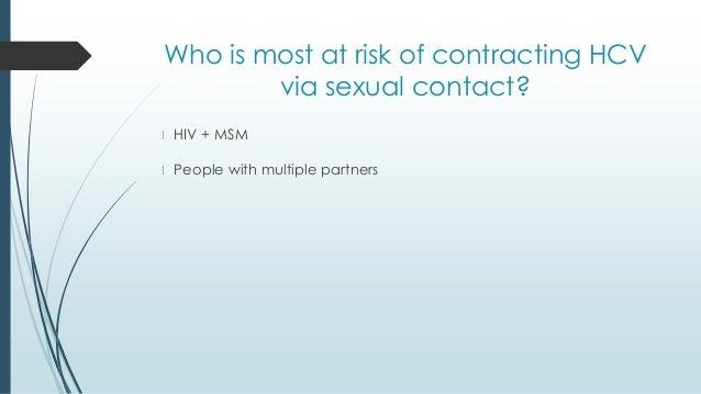 Contracting hepatitis c sexually