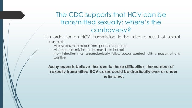 How hepatitis c is transmitted sexually