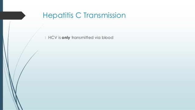 Hepatitis C Transmission Sexually