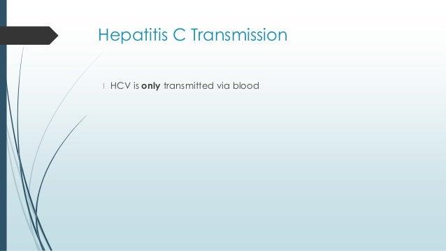 Hepatitis C Transmission Sexually