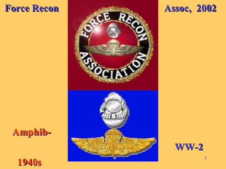 Force Recon Assoc,  2002 Amphib-  1940s WW-2