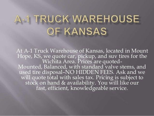 A 1 truck warehouse of kansas- www.a1truck.biz Slide 2