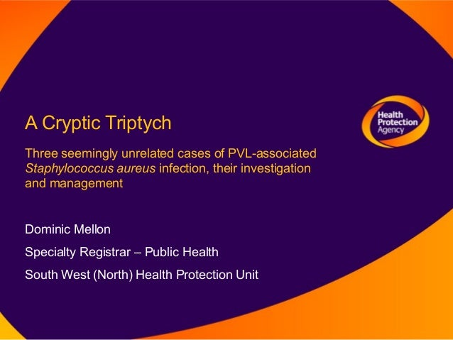 A Cryptic TriptychThree seemingly unrelated cases of PVL-associatedStaphylococcus aureus infection, their investigationand...