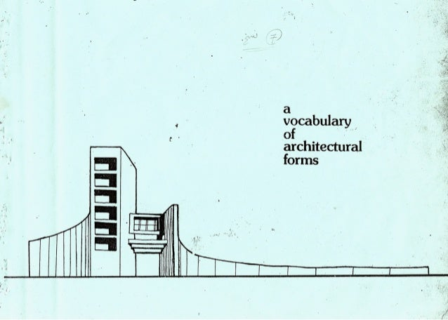 A vocabulary of architectural forms