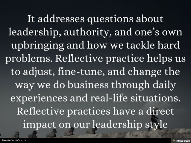 Reflective Leadership: Learning to Manage and Lead Human Organizations