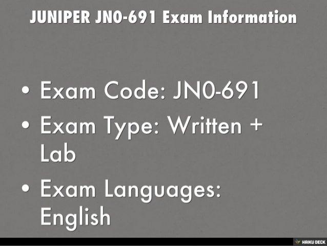 JUNIPER JN0-691 JNCP Exam Dumps Questions