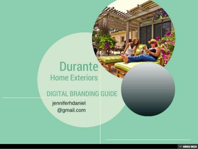 Durante Home Exteriors Digital Branding Proposal
