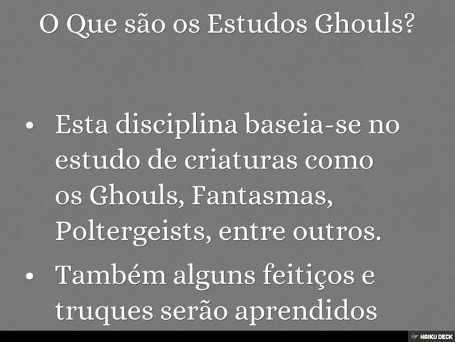 Estudos Ghouls