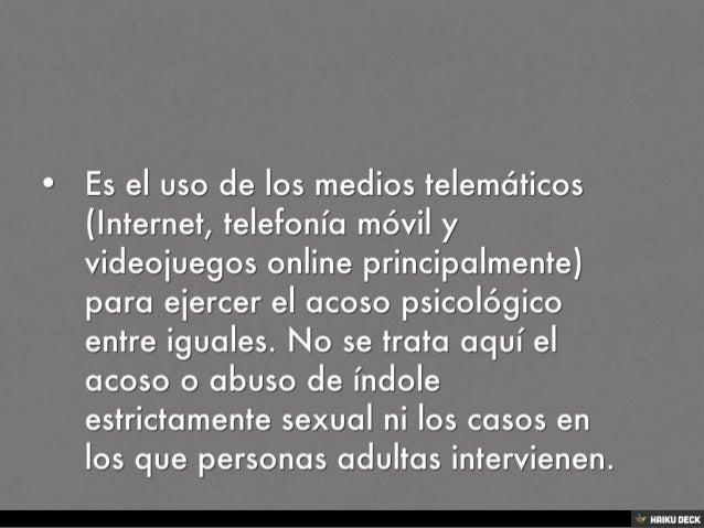 ¿Qué es ciberbullying? Slide 2