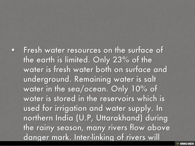 UTILISATION OF WATER RESOURCES