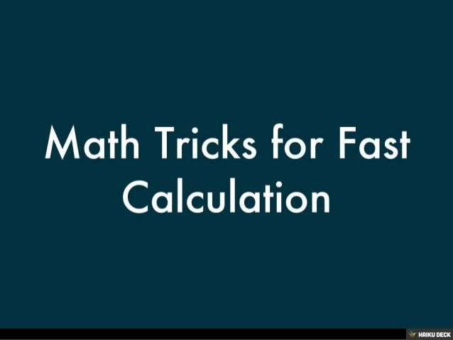 how to get good at math fast