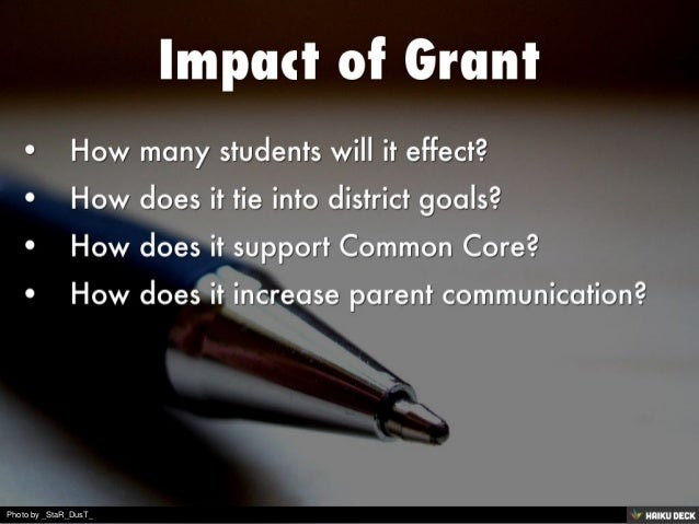 Grants for iPad