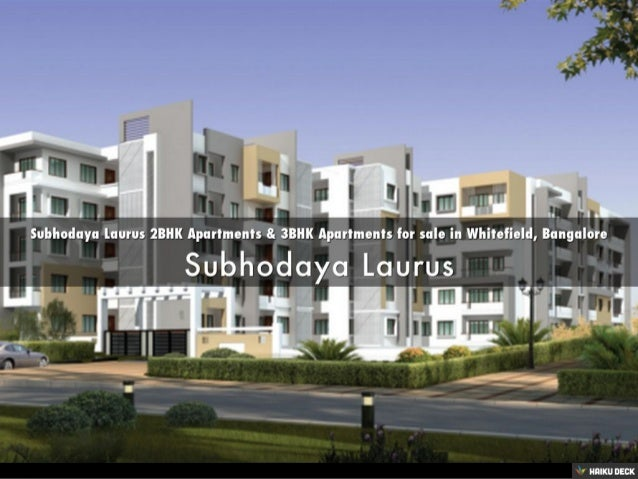 Subhodaya Laurus 2bhk Apartments 3bhk Apartments For Sale In Whitef