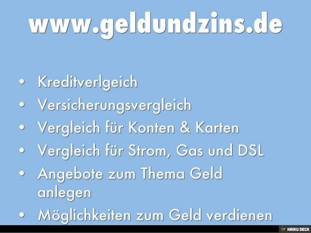 www.geldundzins.de - Vergleichsportal für Finanzen & Versicherungen