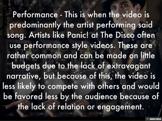 Conventions of a Music Video Slide 3