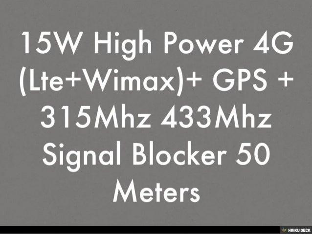 Blocker app - 4G Wimax Blocker Buy