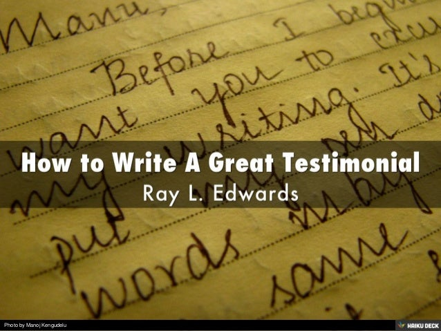 how to write a great testimonial