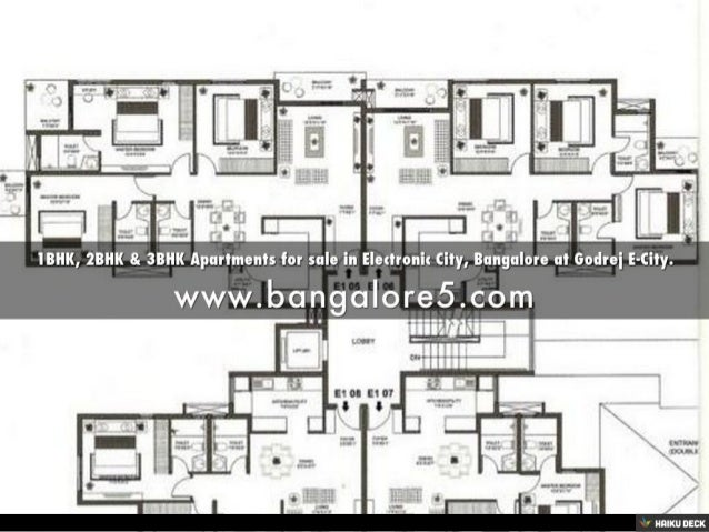 1BHK, 2BHK & 3BHK Apartments for sale in Electronic City, Bangalore at Godrej E-City. Slide 2