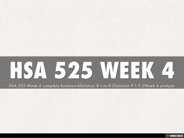 HSA 525 WEEK 4