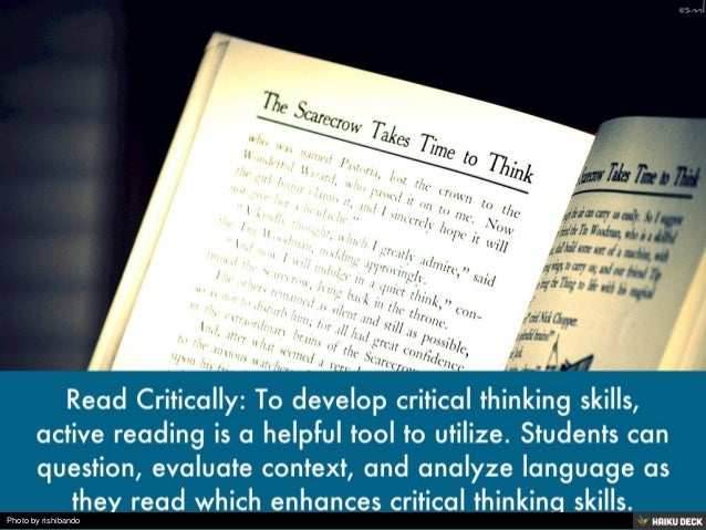 developing critical and creative thinking skills How to promote creative thinking by alice sterling honig, phd and alternatives, to actions this kind of thinking sharpens reasoning skills and sparks a child's own creative solutions to conflicts creative teaching creative art for the developing child by clare cherry.