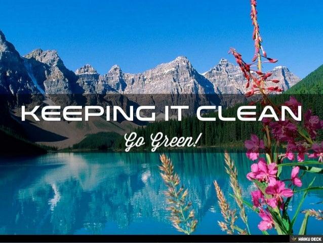 Saving The Environment Slide 2