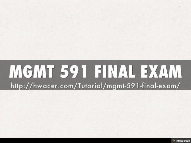 Gm 591 final examen