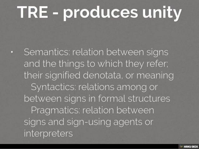 Unity in Semiotics Slide 2