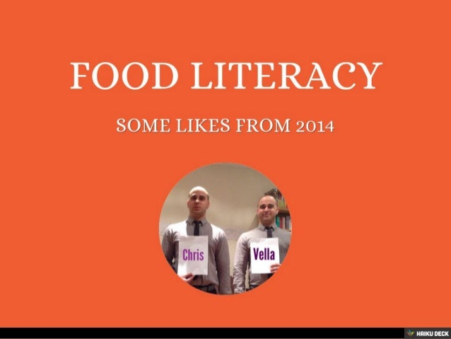 food literacy The term food literacy is emergent, and as a result the literature reflects a great variety of definitions simultaneously, new research and food literacy programming is being developed without an agreed upon definition of what food literacy is and how food skills, food security, and health literacy may fit with the definition.
