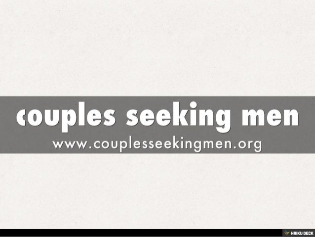 Couples seeking other couples
