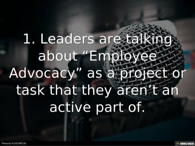 8 Signs a Company is doing Employee Advocacy Wrong! Slide 2