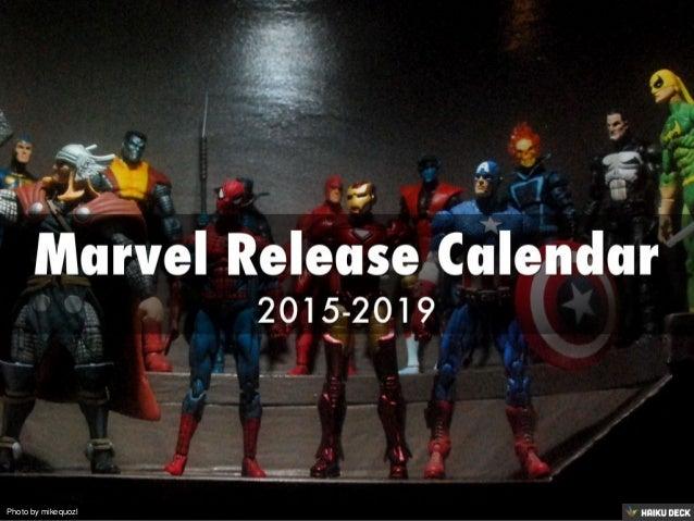 Marvel Release Calendar