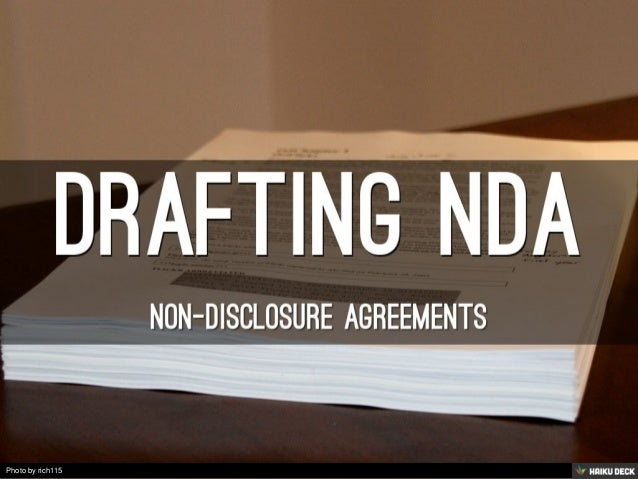 Drafting NDA <br>NON-DISCLOSURE AGREEMENTs<br>