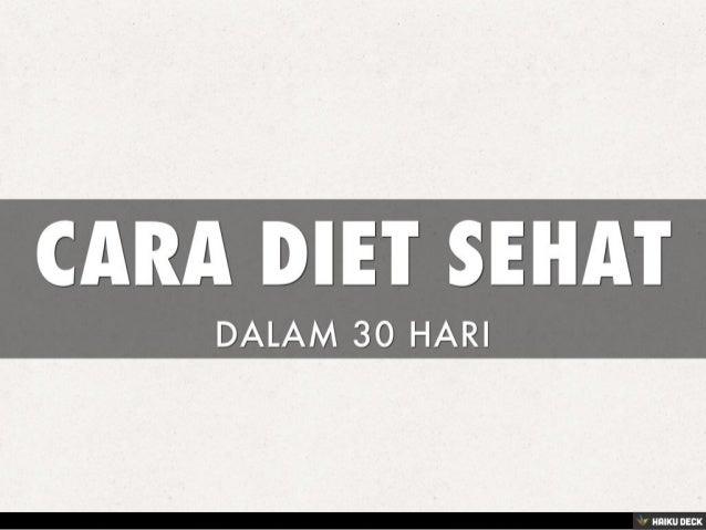 Inilah Pengertian Diet yang Benar