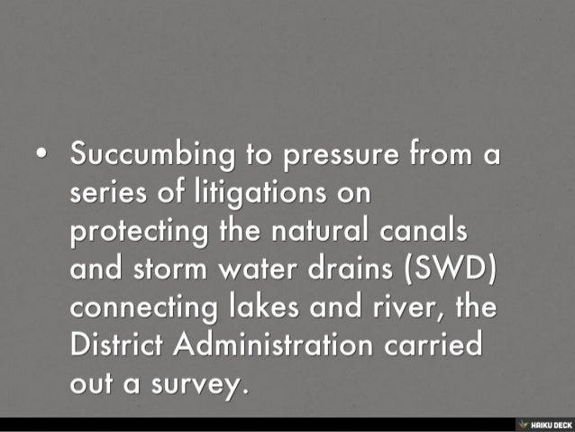 KILLING A STORM WATER DRAIN TO STRANGULATE A LAKE