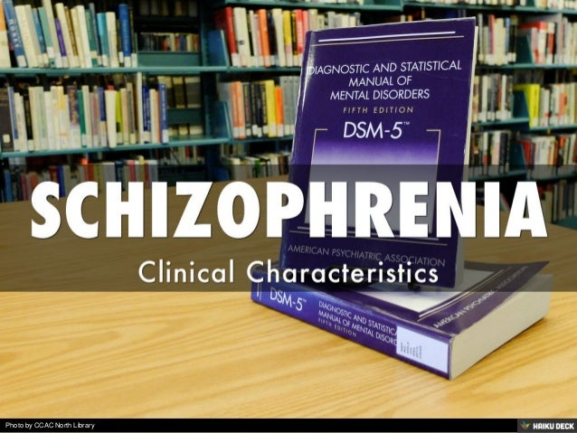 characteristics of schizophrenia Understanding the symptoms of schizophrenia schizophrenia is a mental health illness that affects about 1 percent of all adults globally it can cause symptoms such as delusions, hallucinations.