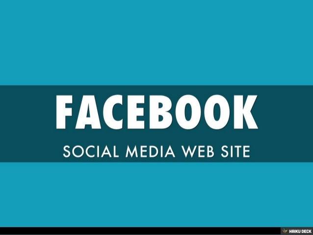 FACEBOOK <br>SOCIAL MEDIA WEB SITE<br>