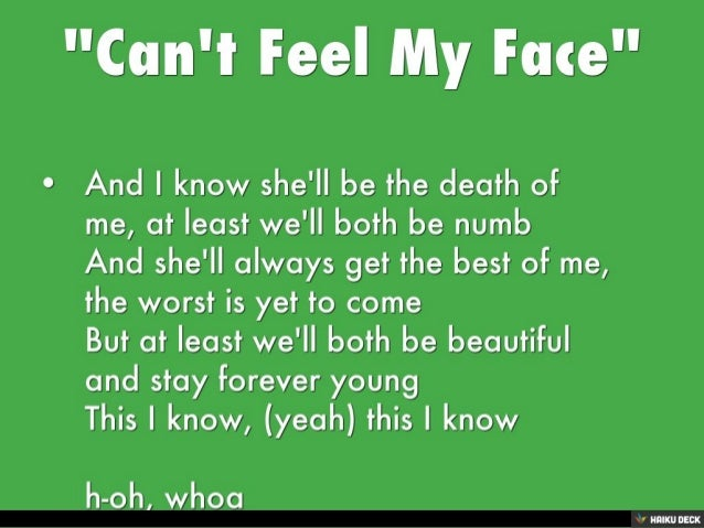 I can feel song