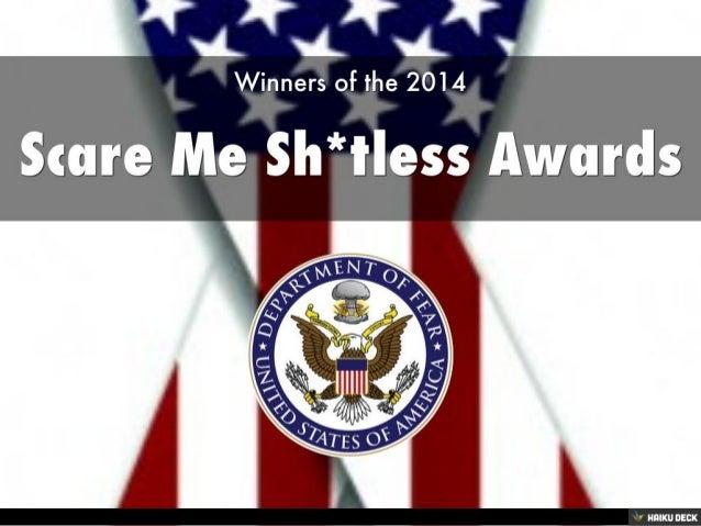 Scare Me Shitless Awards 2014 Slide 2