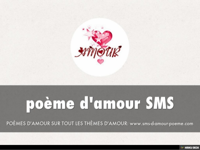Préférence poème d'amour SMS UC52
