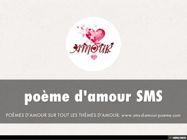 Poème Damour Sms