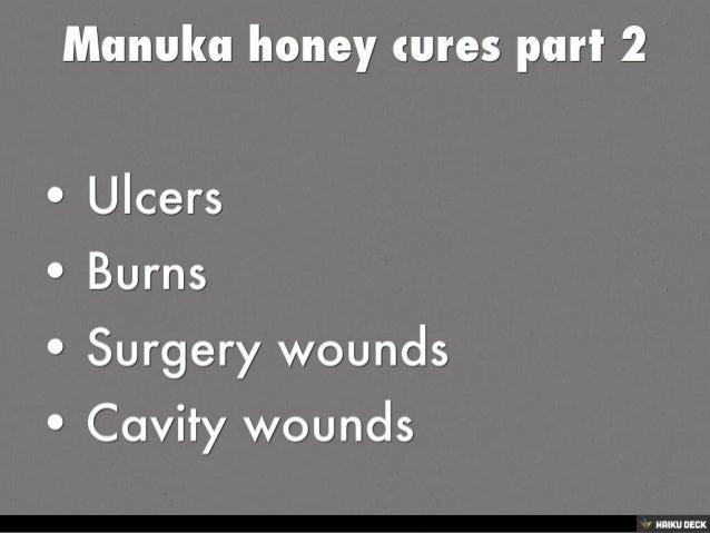Manuka honey  cures part 1 Slide 2