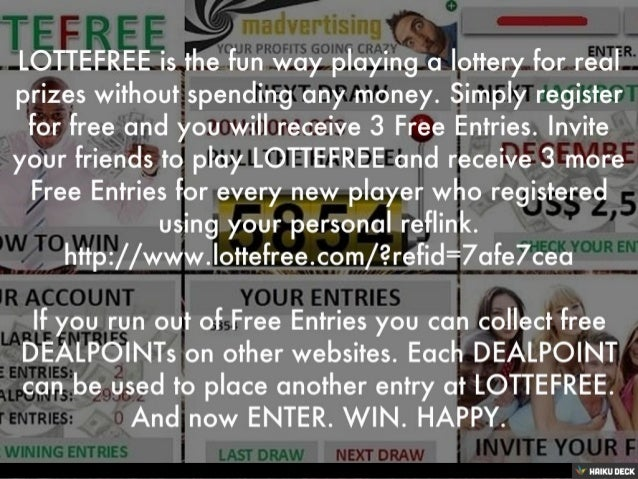 LOTTEFREE is the fun way playing a lottery for real prizes without spending any money. Simply register for free and you wi...