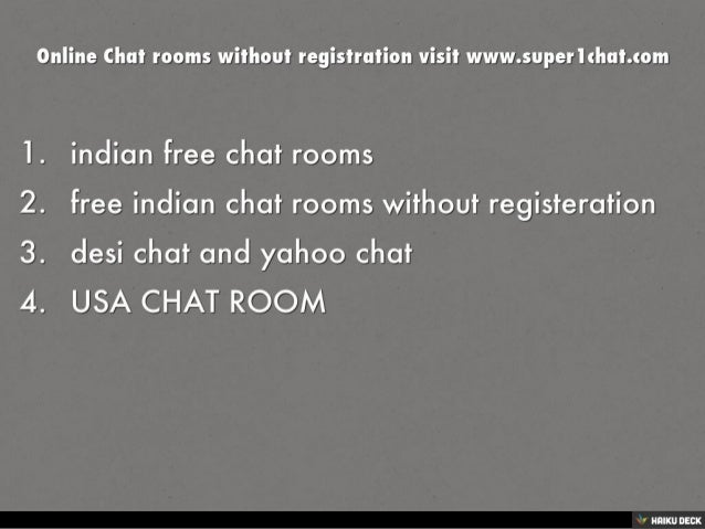 Online chat without registration