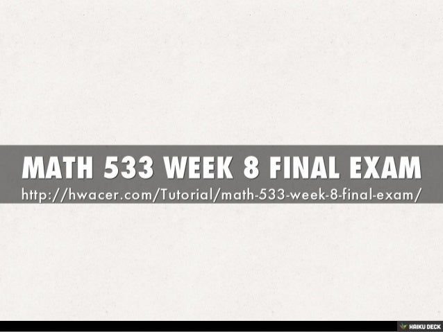 ACCT 550 Week 8 Final Exam Set 2 Complete A+ Answer