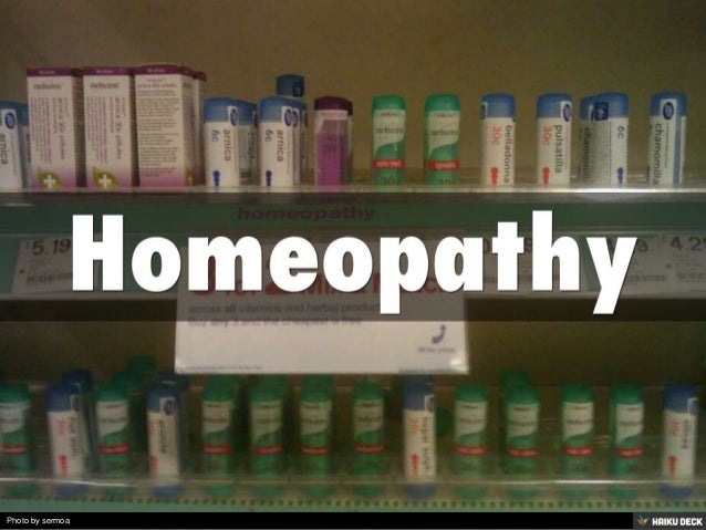 Homeopathy<br>