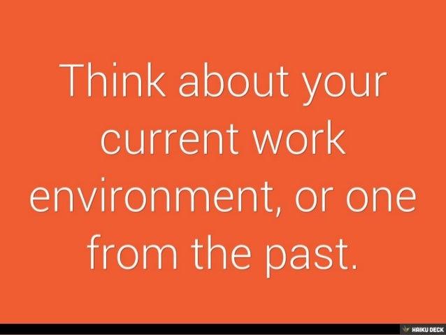 Create a productive workplace Slide 2