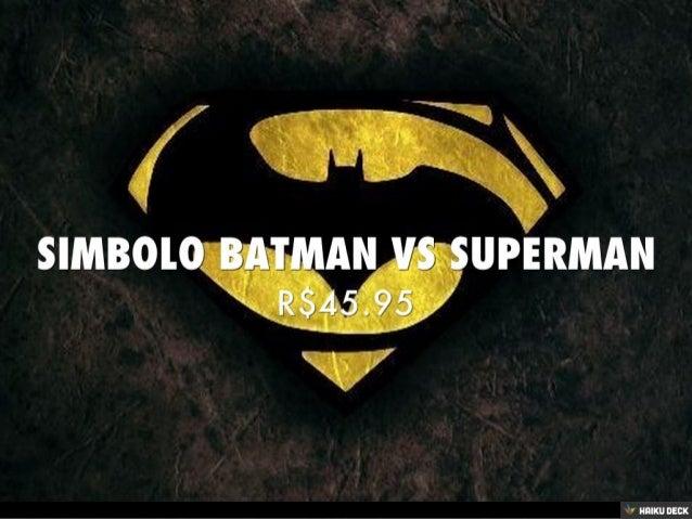 Simbolo Batman Vs Superman